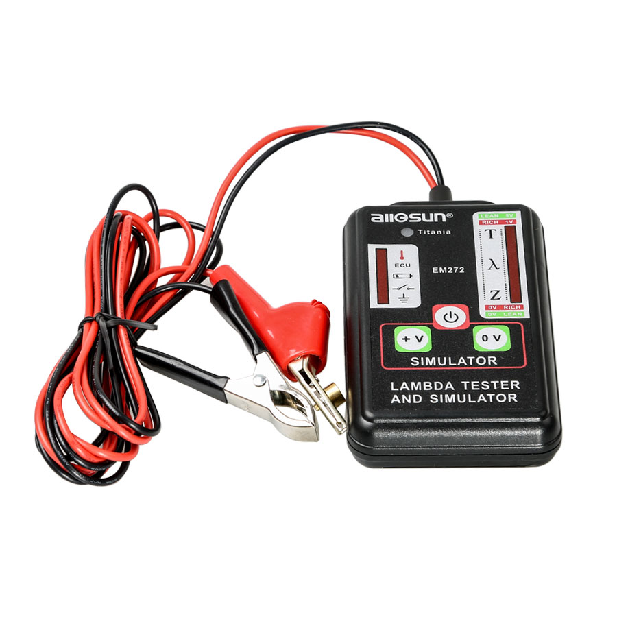 купить Professional High Accuracy Automotive Lambda Meter Simulator Oxygen Sensor 1,2,3,4 Wire Sensor Durable ABS Enclosure Low Battery недорого
