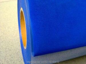 CDF-06 Royal blue Flocking transfer PU VINYL FILM, heat transfer flock vinyl for garment with size:50*100cm/lot