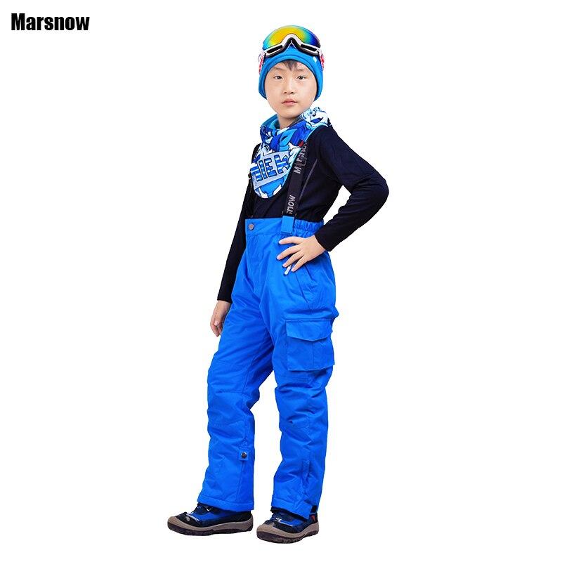 Kids Children Winter Warm Snow Pants Boys Girls Waterproof Skateboard Bib Pants