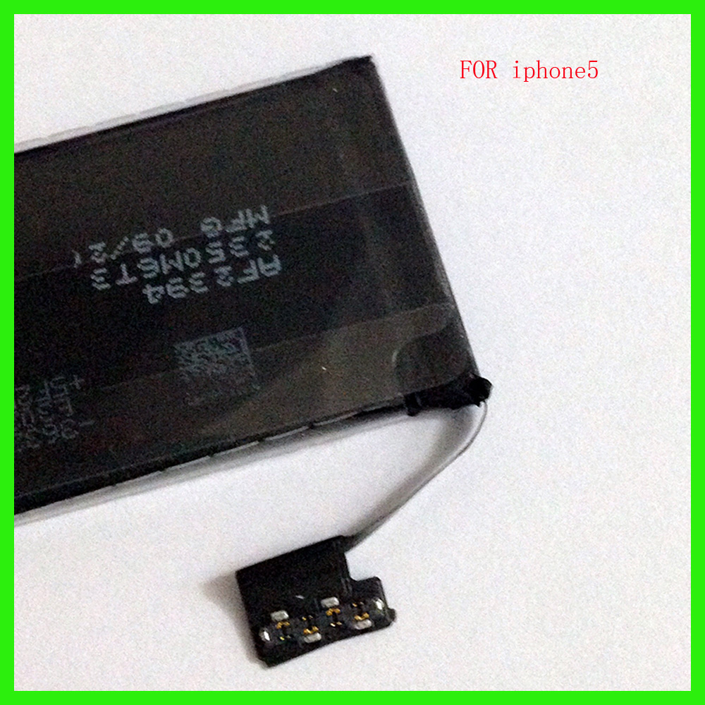 High Quality 1440mAh Li-ion Battery for iPhone 5 5G Phone Battery Rechargeable Replacement Li Polymer Internal Batteries