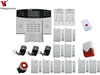 YobangSecurity LCD Giá Rẻ Hiển Thị Bằng Giọng Nói Nhắc GSM Không Dây Chống Trộm Alarm Hệ Thống An Ninh Nhà với Strobe Siren Nút Hoảng Loạn