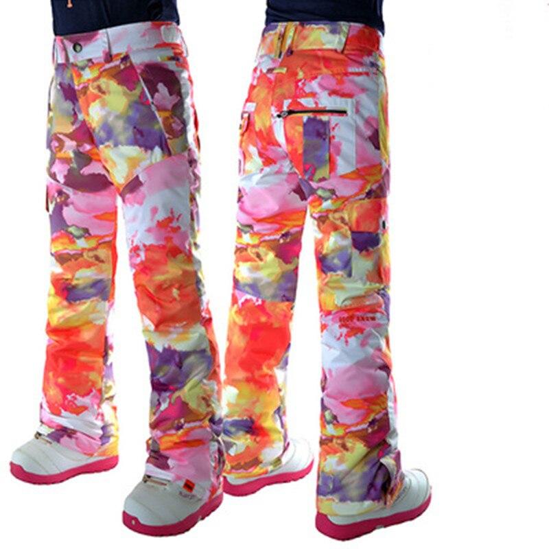 GSOU SNOW nouveau pantalon en coton imperméable et respirant pour femme pantalon de Ski chaud Double planche snowboardder hiver femme pantalon de Ski