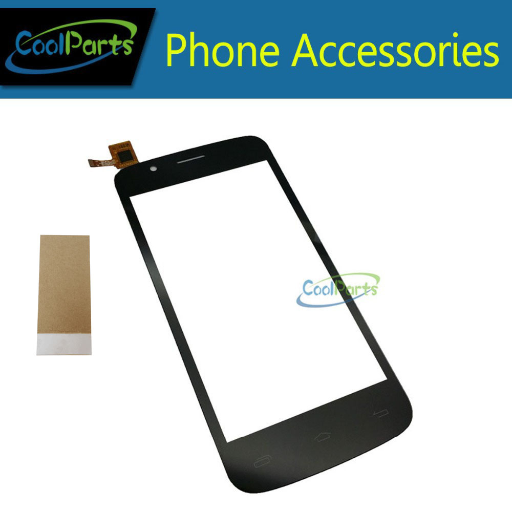1PC/Lot 4.5 For Prestigio MultiPhone PAP 5453 Duo PAP5343 Touch Screen Digitizer Touch Panel Glass With Tape Black Color
