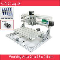 Mini CNC 2418 Standard CNC Engravier ER11 Chuck With 500mw 2500mw 5500 Mw Laser Pcb Milling