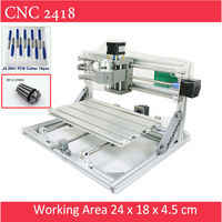 Mini CNC 2418 Standard CNC Engravier ER11 Chuck With 500mw 2500mw 5500 Mw Laser Pcb Milling