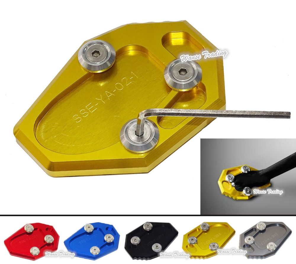 Motorcycle Kickstand Foot Side Stand Extension Pad Support Plate For Yamaha YZF MT-07 MT07 MT7 2014 2015 2016  for yamaha mt09 mt 09 mt 09 2013 2015 2014 new motorcycle parts kickstand foot side stand enlarge extension pad support plate