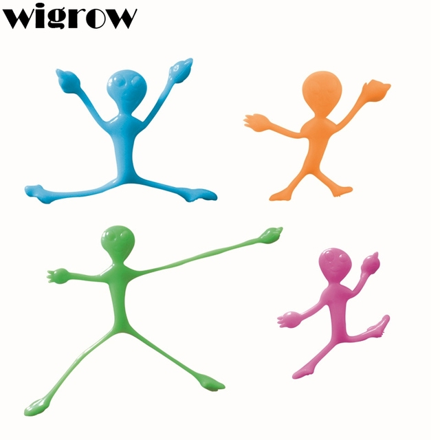 Wigrow Stretchable Sticky Flying Aliens Catapults Kids Supply Favourite Slingshots Climb Wall Gag Intelligence Toys Safety Funny