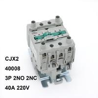 CJX2 40008 Contactor AC 40A 4Pole 2NO 2NC 220V Motor Starter Relay LC1 D