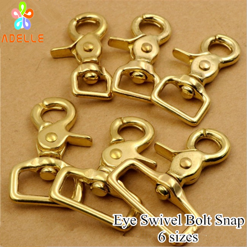 ROUND END SQUARE END SOLID BRASS SWIVEL TRIGGER HOOKS SNAP CLIPS DOG LEAD