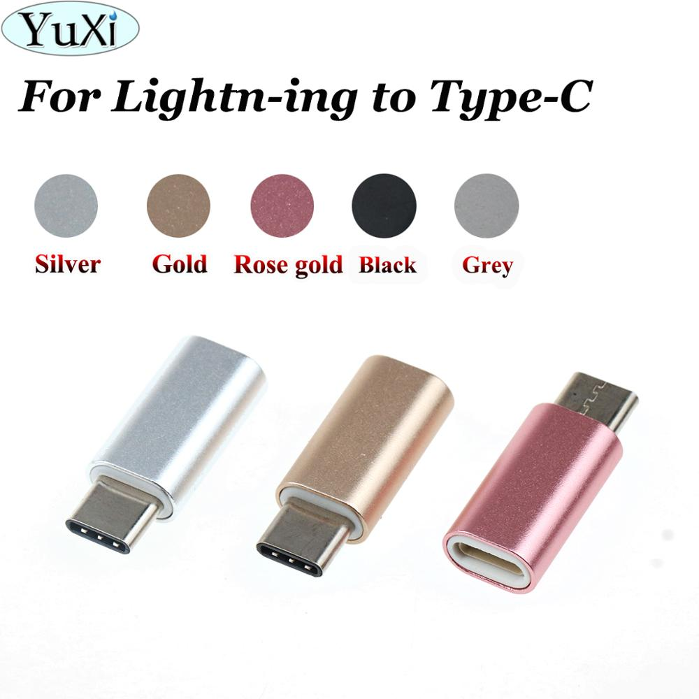 YuXi For IPhone Female To Type C Male Adapter To Micro USB Cable Converter Charging Type-C To Ios Converter Connector USB-C