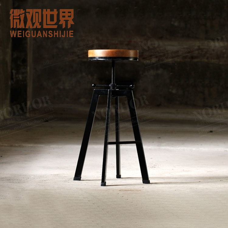 LOFT American Country Furniture, Wood Bar Chair Low Back Chairs Western  Cafe Bar Stool Chair On Aliexpress.com | Alibaba Group