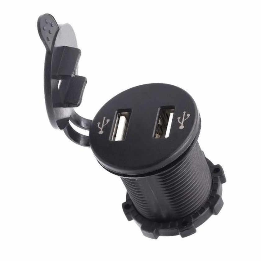 High Quality  12V Dual Port USB Charger Socket Voltage Voltmeter Rocker Switch Panel Car Boat