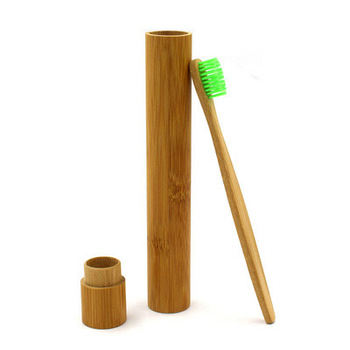 100 Pcs/Lot Natural Bamboo Tube For Toothbrush Eco Friendly Travel Case Hand made Bamboo Toothbrush Tube Portable Travel Packing