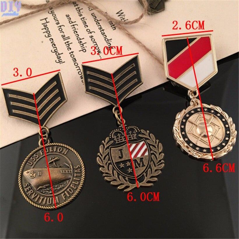 Ретро Металл пять звезд плеча совета Орел Значки медаль Epaulet эполет Военная Униформа Булавки на брошь