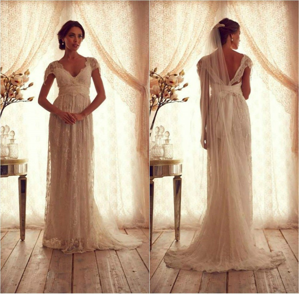 Anna Campbell Wedding Gown: Glamorous Anna Campbell Wedding Dresses Vintage Lace