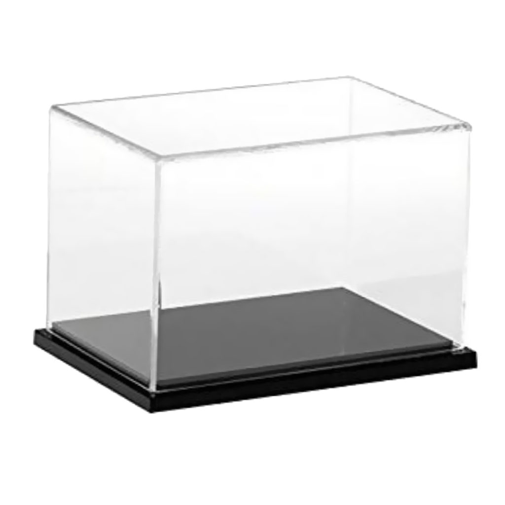 Clear Acrylic Display Case Dustproof Model Figures Protection Box 40X25x25cm