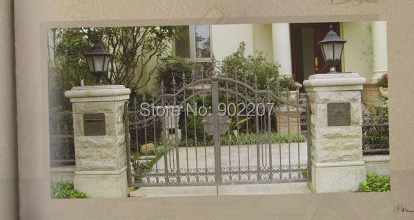 Henchuang wrought iron gate forged iron gates villa wrought iron gates steel metal iron gate design