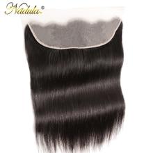 Nadula Haar Frontal 13*4 Spitze Frontal Medium Braun Spitze Brasilianische Gerade Haar Frontal 130% Schicksal Remy Menschliches Haar