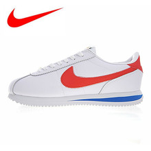 757c4b54 Оригинальные мужские и женские кроссовки Nike Cortez Basic Roshe, белые,  износостойкие, легкие 815653-015
