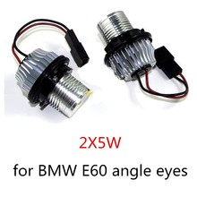 new arrival hot sale 2 Pieces 2X5W LED Marker Angel Eyes Halo Light for BMW E39 E53 E60 E61 E63 E64 E65 E66 E87 X3