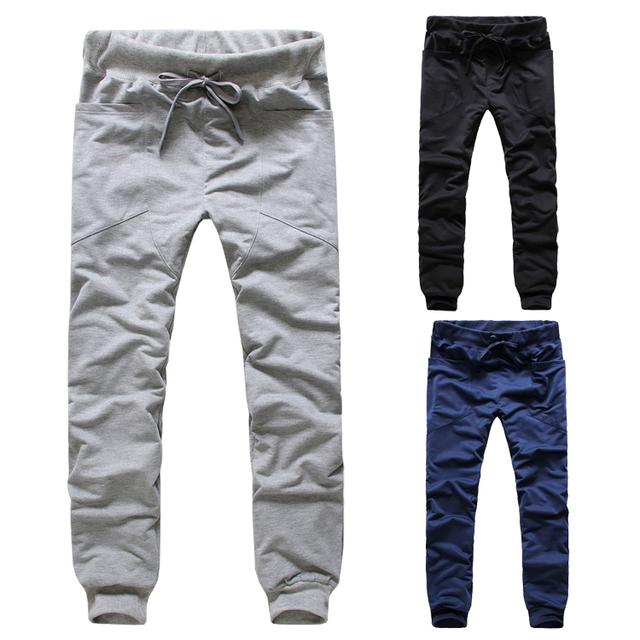 Envío Gratis hombres pantalones slim fit pantalones de ocio para los hombres 3 colores M-XXL Ck43