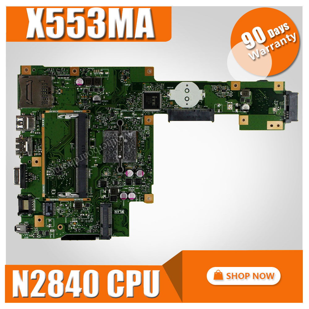 X553MA Motherboard REV2.0 N2840U CPU For ASUS X553MA x503m f553ma f553m Laptop motherboard X553MA Mainboard X553MA Motherboard