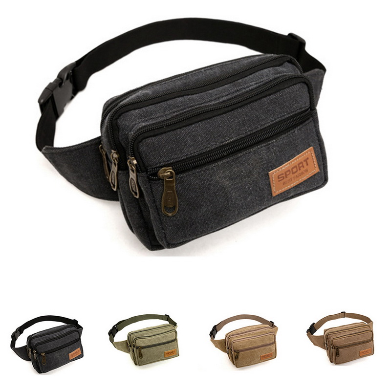 Puimentiua  Quality  Men Waist  Casual Bum Hip Bag Belt Phone Bag Case   For Women Men Travel Waist Bag