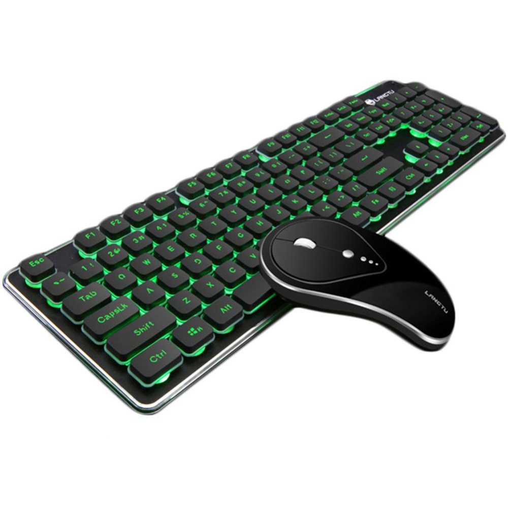 Wireless Keyboard and Mouse Combo Portable Waterproof Keyboard 2.4GHz Connection Silent Optical Mouse and Keyboard for PC Laptop