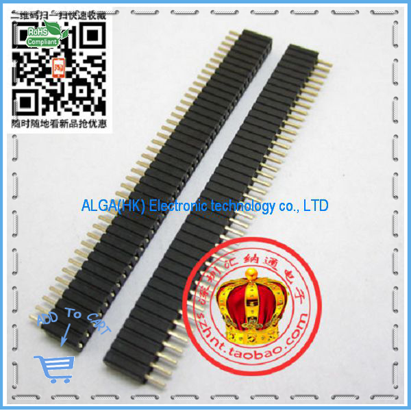 1.27MM single-row seat 1*40P 1.27MM row seat pitch single row female socket and Free shipping.