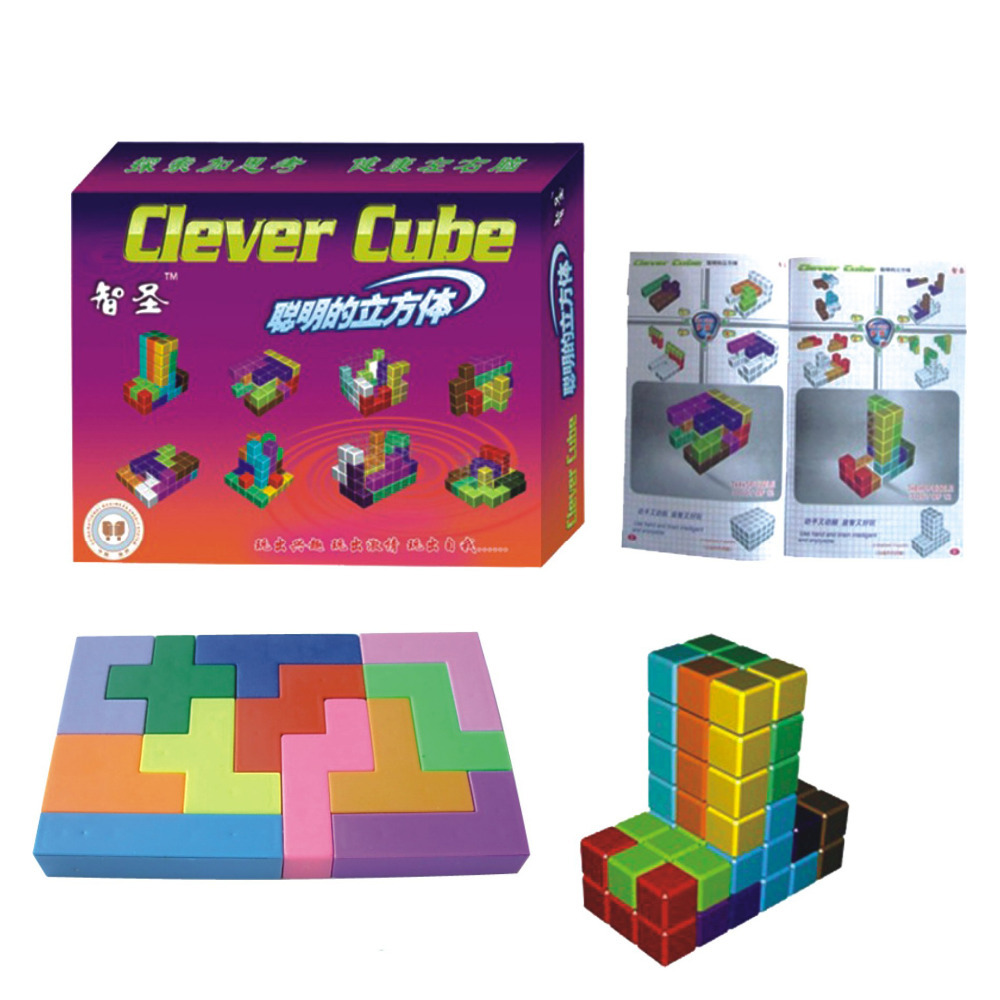 Educational puzzle toys clever cube puzzle fun kids toys