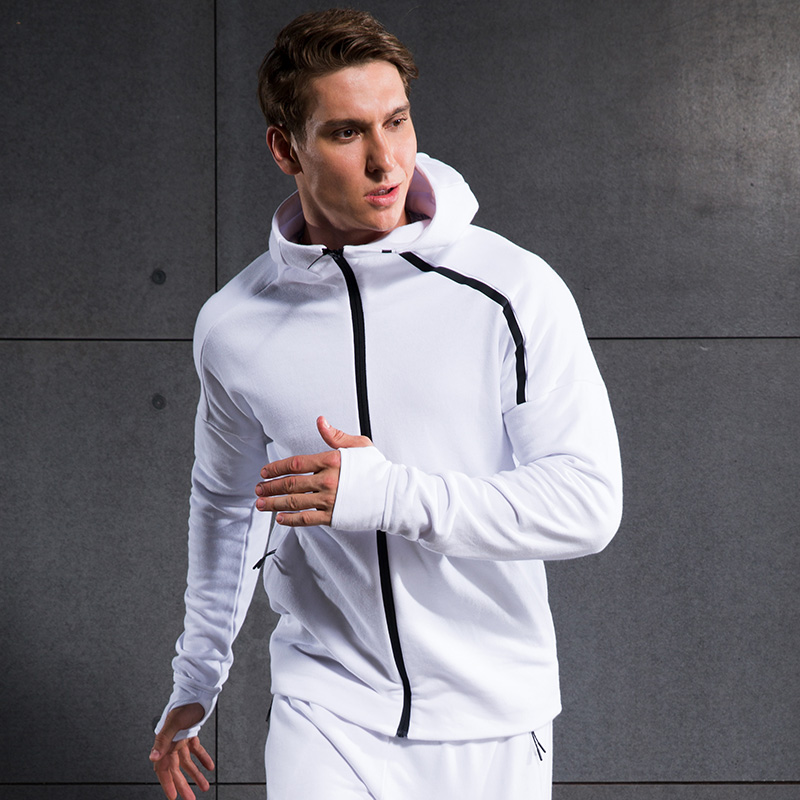 Outdoor Sports Climbing Soccer Football Gym Jogger Zipper Cardigan Coat Sweater Men s Running Fitness Excercise Hooded Jacket tiebao a13135 men tf soccer shoes outdoor lawn unisex soccer boots turf training football boots lace up football shoes