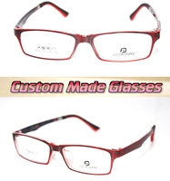 Dark Red Frame Trend Optical Custom Made Optical Lenses Reading Glasses 1 1 5 2 2