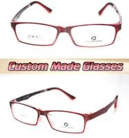 Dark Red Frame Trend Optical Custom Made Optical Lenses Reading Glasses 1 1 5 2 2