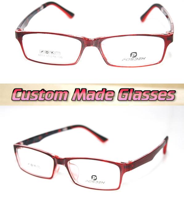 Vermelho escuro Tendência quadro Óptico Custom made lentes ópticas óculos de Leitura + 1 + 1.5 + 2 + 2.5 + 3 + 3.5 + 4 + 4.5 + 5 + 5.5 + 6 + 7
