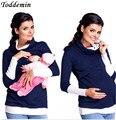 Las mujeres de Maternidad De Enfermería Desmontable Bufanda Patchwork Tops Lactancia Embarazo Tees Camisa Ropa Multifunción Más Tamaño