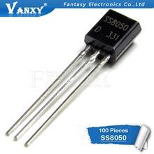 100 шт. SS8050 TO-92 8050 TO92 триодный транзистор