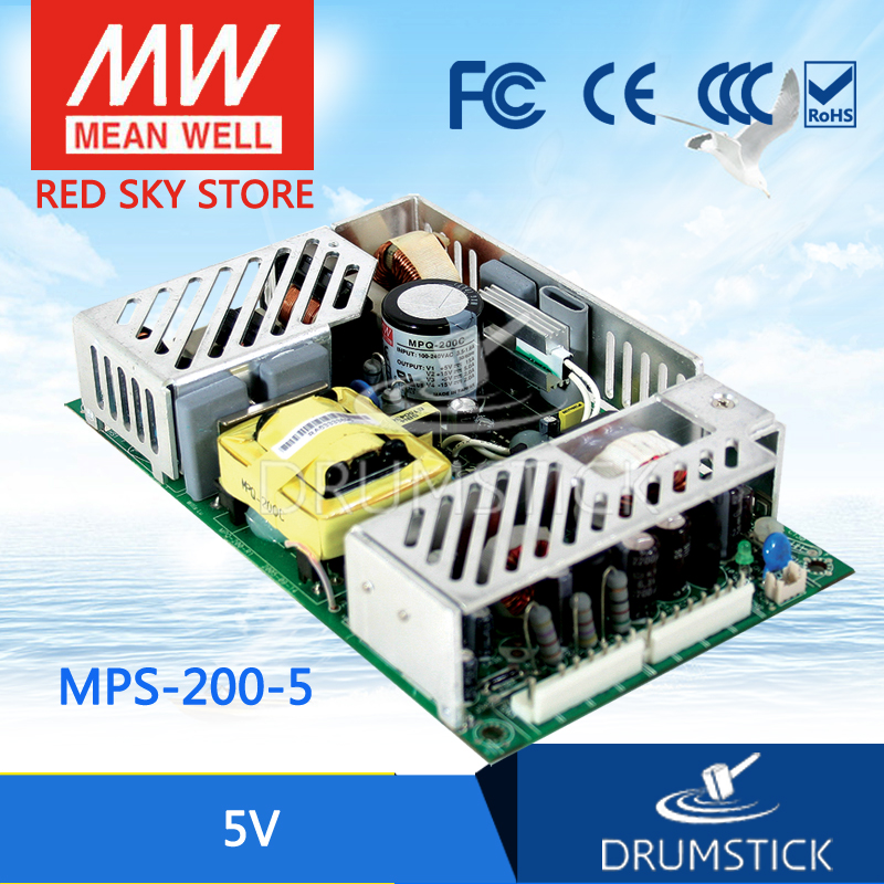 Advantages MEAN WELL MPS-200-5 5V 40A meanwell MPS-200 5V 200W Single Output Medical Type хай хэт и контроллер для электронной ударной установки millenium mps 200 mono cymbal pad