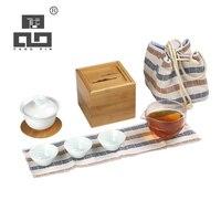 TANGPIN gaiwan cerâmica xícaras de chá em cerâmica chinesa pote de viagem portátil jogo de chá Jogos de chá     -
