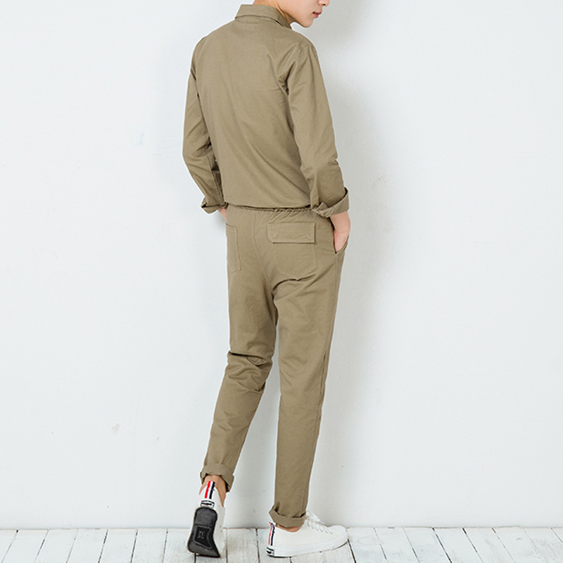 Men's Clothing Official Website Male Long Sleeve Overalls Jumpsuit Harem Trousers Men Vintage Fashion Streetwear Hip Hop Casual Jumpsuit Cargo Pant Warm And Windproof Cargo Pants