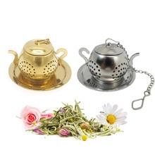 Чайный горшок из нержавеющей стали, форма для заваривания чая, цветочный ситечко для чая, травяной фильтр, кухонная посуда, аксессуары для чая, чайный шар, Teesieb
