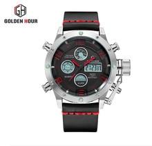 2017 Watches Men Luxury Brand Sport Watches Dual Display Analog Digital LED Military Quartz Watches Waterproof Relogio Masculino