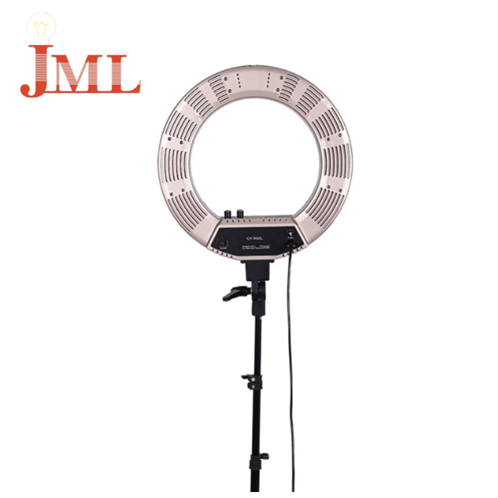 Andoer 480LEDs Studio Ring Light Photography 50W 5500K 4800LM Pink Bi-color lighting Photographic Lighting Step-les video light