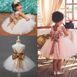 Vestidos para meninas, novo lantejoulas brilhantes vestido de menina para festa de aniversário casamento da princesa do bebê meninas roupas crianças vestidos para meninas