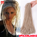"Wignee Hair 20"" Soft Dread lock Hair Crochet Braids Dreadlock Synthetic Extensions 613 Blonde Hair Cheap Afro Kinky Faux Locs"