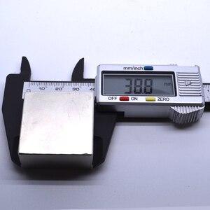Image 3 - Неодимовый магнит, 2 шт., 40x40x20 мм, металлический Галлий, суперпрочные магниты 40*40*20, квадратный неодимио, мощный постоянный магнит