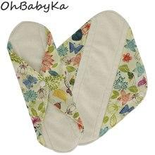 Многоразовая столовая салфетка Ohbabyka для женщин, гигиеническая прокладка, тканевые прокладки, бамбуковое волокно, тканевая менструальная прокладка, размер S M L