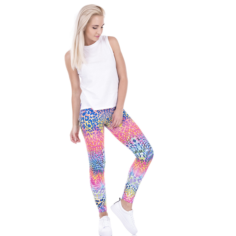 Skinny Casual Leggings De Fit Alta Lga43474 Blocking Funny Impreso Colorido Pantalones Basic 2017 Multico Delgado Mujeres Leopardo Cintura Color wxq8wIB