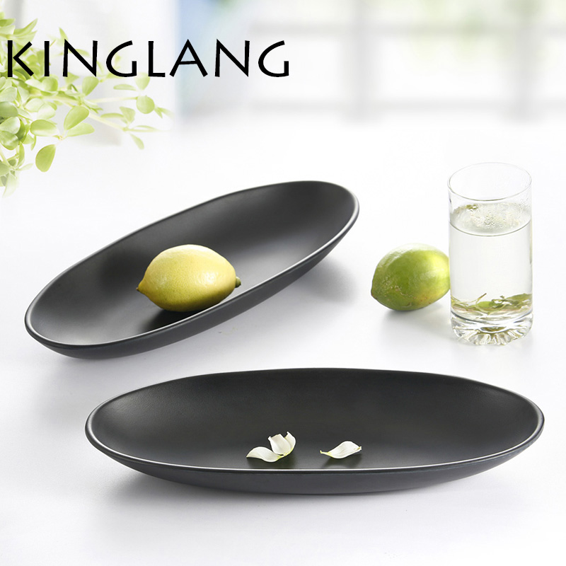 1PC Melamine Sushi OVAL DISH Rectangle Shape Plate -in