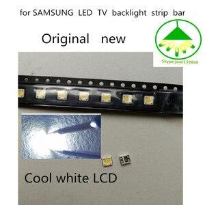 300 pçs/lote Original novo 3535 3 V Cool white LCD SMD Contas de Luz Especialmente para TV LED Backlight Tira Bar reparação