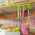 Frete grátis 1 pcs Banheiro Da Parede Da Cozinha Porta Auto-Adesivo Gancho Pegajoso Seis Armários de Gancho Gancho Gancho Adesivo GYH